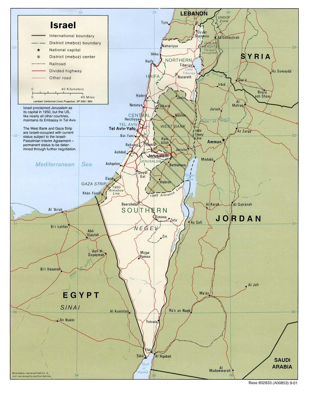 Cartina Israele Giordania.Mappa Israele 1 020 X 1 278 Pixel 225 51 Kb Pubblico Dominio Freemapviewer