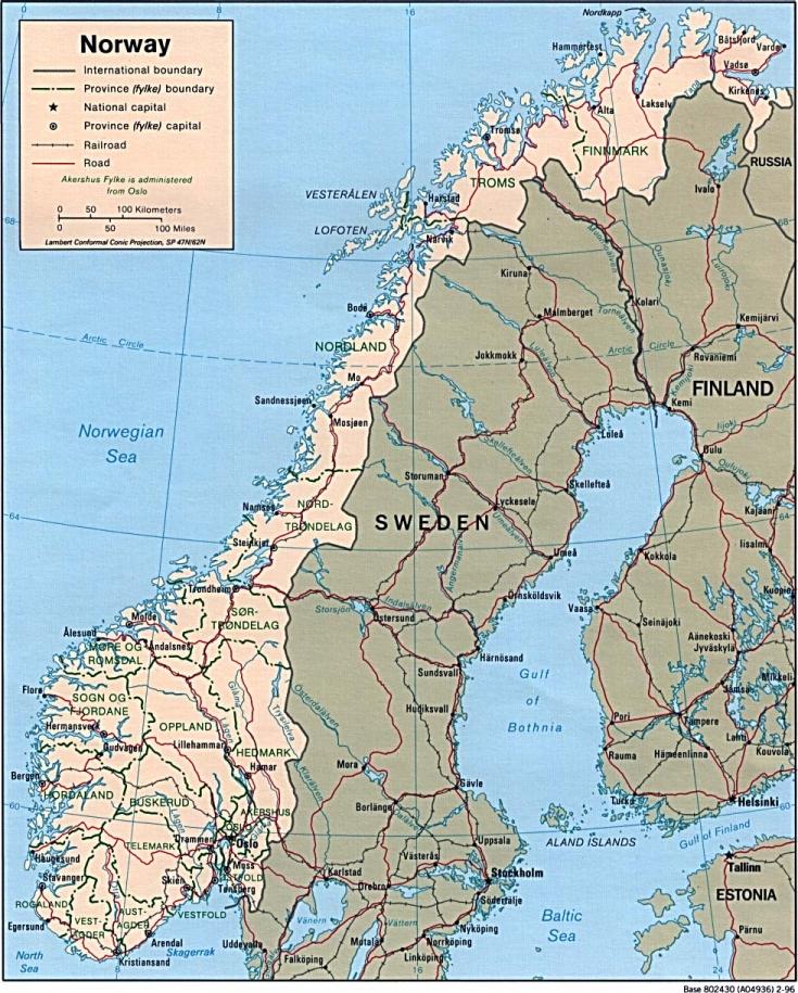 La Norvegia Cartina.Mappa Norvegia 980 X 1 220 Pixel 322 52 Kb Pubblico Dominio Freemapviewer