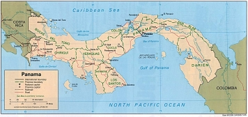 Panama Kartta